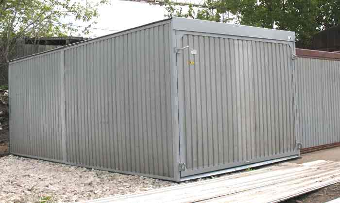 Металлические разборные гаражи